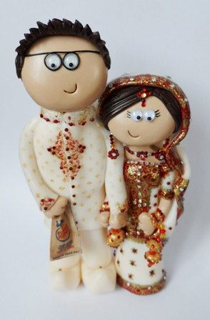 Custom handmade personalised Indian Wedding by googlygiftscaketops, £149.99