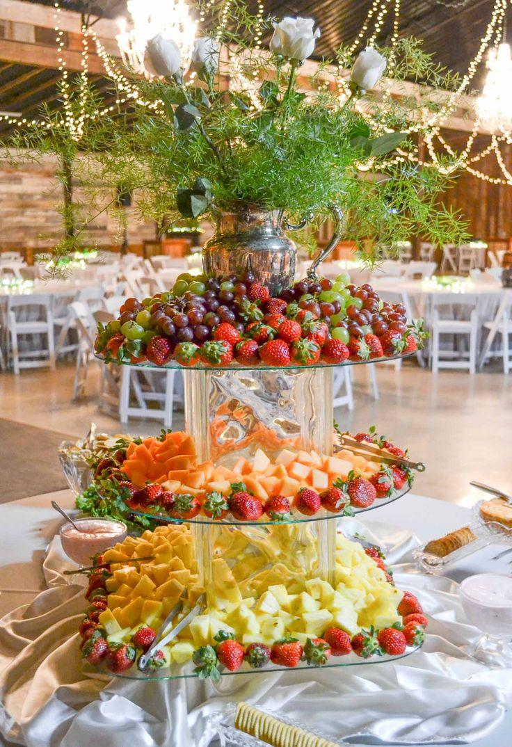 Wedding reception barn, wedding décor, winter wedding, wedding reception, food buffet. Rustic barn wedding and reception venue in Alabama whiteacresfarms.com