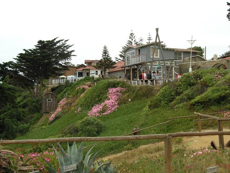 One of Pablo Neruda's homes, La Isla Negra, Chile.