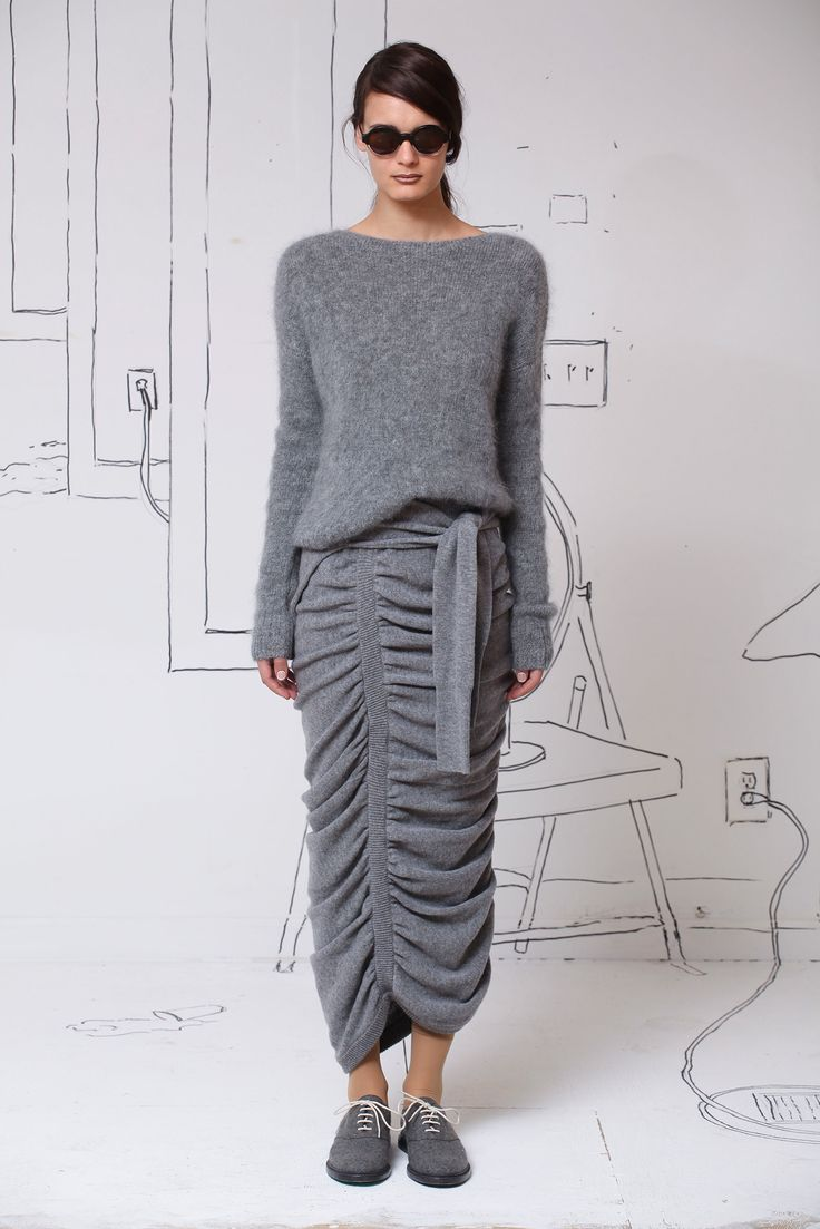 horizontal pleats knit - Google Search