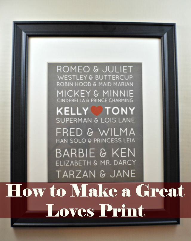 How To Make A Great Loves Print Prints Create And Craft