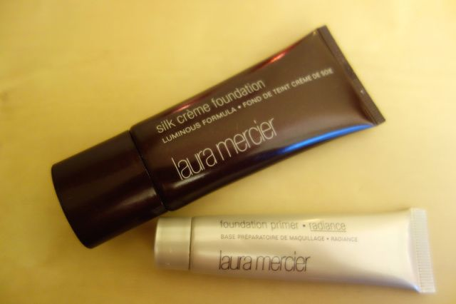 laura mercier sil creme foundation and radiance primer