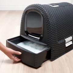Curver PetLife Туалет-домик для кошек, темно-серый, 51*39*40см - купить в интернет магазине в Москве и СПб