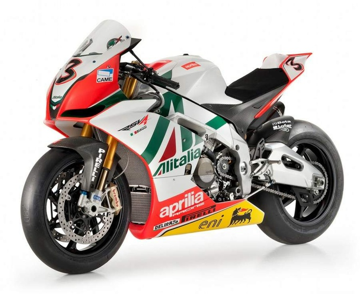 Aprilia RSV 4 Max Biaggi Replica Superbike        The RSV4 Biaggi Replica features a 65-degree V4 with Weber-Marelli throttle bodies, two injectors per cylinder, adjustable height intake ducts and ride-by-wire throttle. The power of V4 is channeled to the track through an extractable six-gear transmission with a multi-disc bath clutch and mechanical anti-skipping system. It also features a 4-2-1 titanium sport exhaust with a single-side silencer in carbon and titanium.