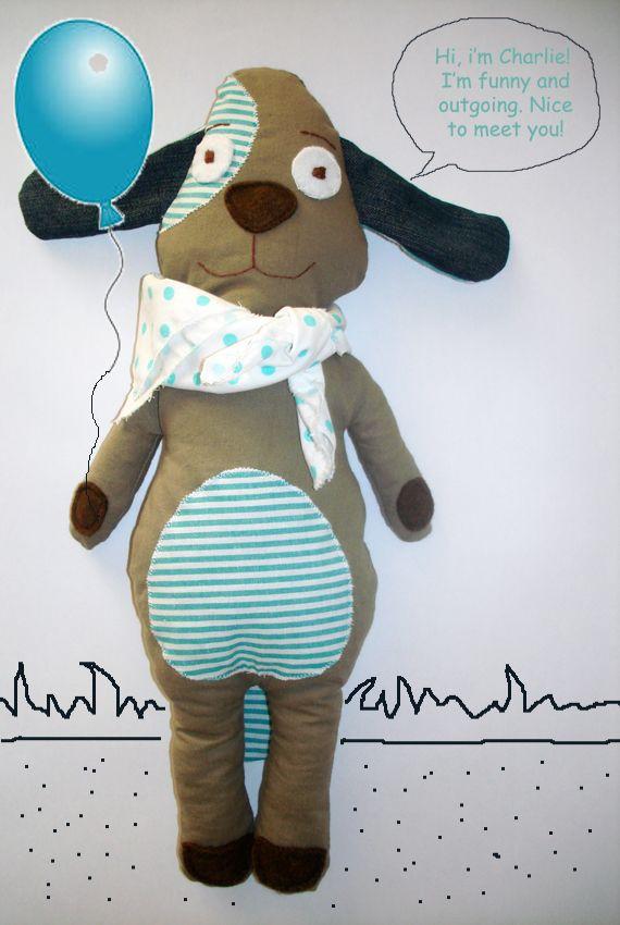 #plustoy #doll #dog. #gift for #kids #babyshower #birthday #nameday. Visit http://lacamerafelice.wix.com/lacamerafelice