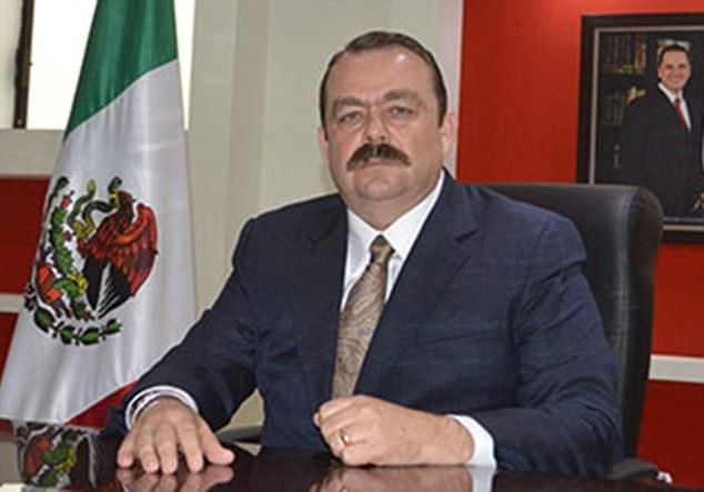 The arrest of Edgar Veytia (pictured) is a huge embarrassment to Mexico's President Enrique Pena Nieto, whose photograph can be seen on the wall of Veytia's office