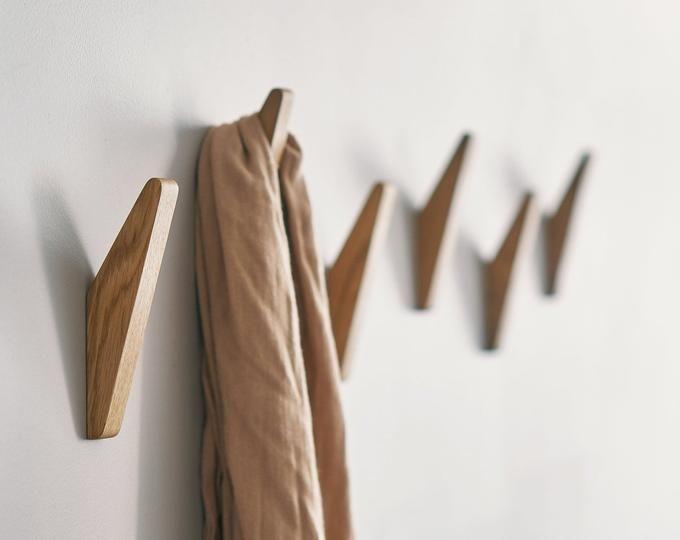 Natural Oak Wood Wall Hooks Coat Hooks Gatis In 2020 Met