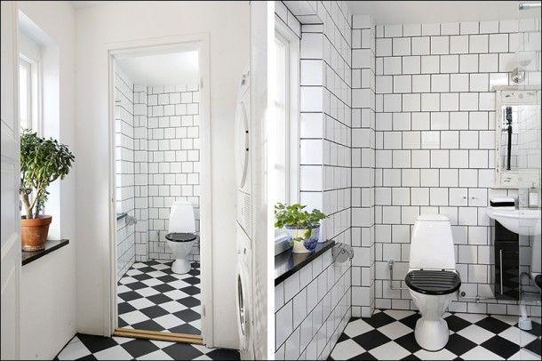 Många är rädda för att lägga mönster på både väggar och golv, i alla fall när det gäller kontrasterna svart/vitt.…