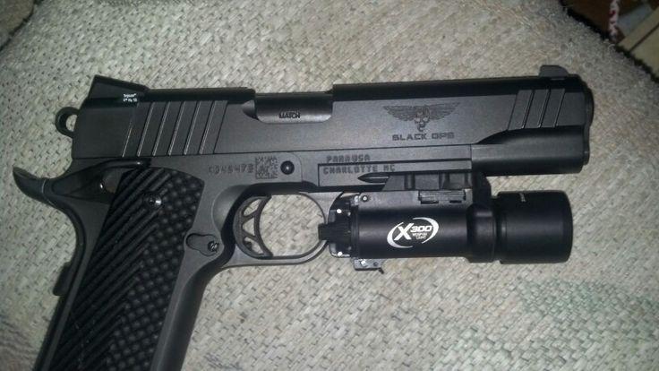 Para Ordnance 1911 Black Ops .45 acp w/ X300 surefire light