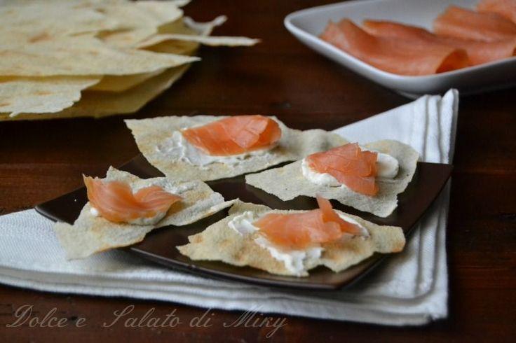 ricetta pane carasau al salmone  Dolce e Salato di Miky