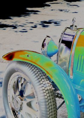 Mirella Pavesi Popart Cars Vintage  Displate Prints on Steel