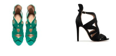 Heels (by Zara). The green ones of course.