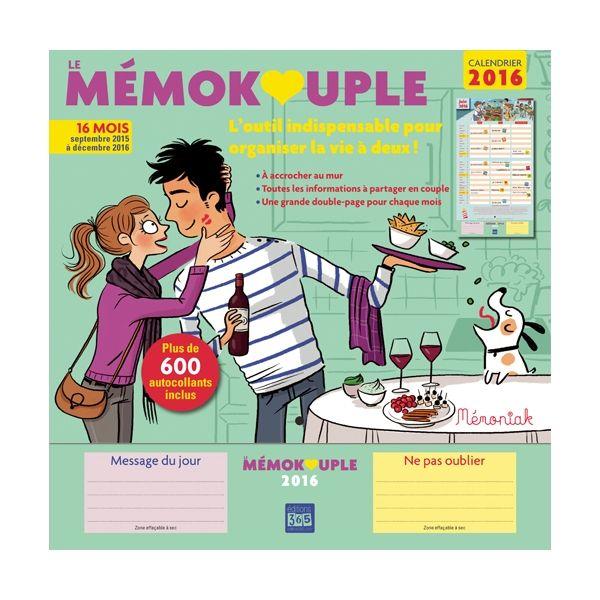 Mémokouple 2015-2016 : pour le couple des Editions 365