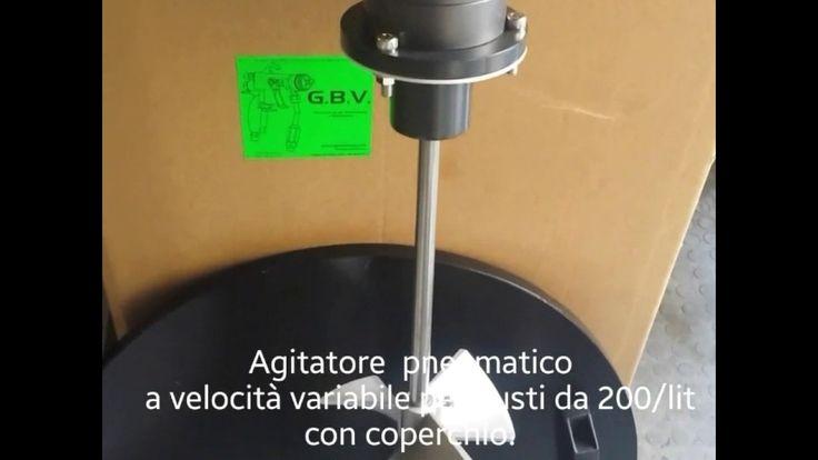 Agitatore pneumatico a velocità variabile per Fusti da 200 / lit