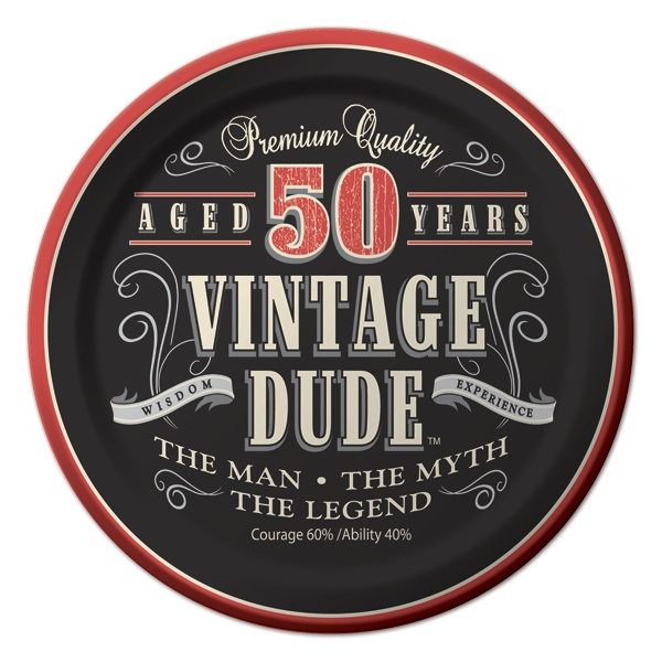 Great 50th party plates etc.  Use this for any age and make your own.