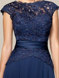 Multiple views on the site reveals an elegant back to this dress.