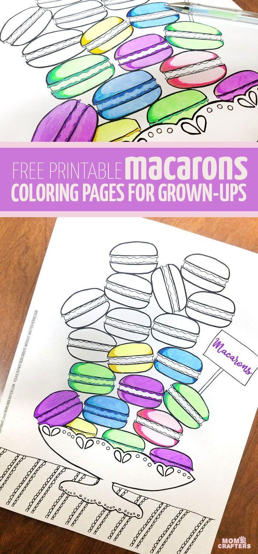 Free Printable Macarons coloring