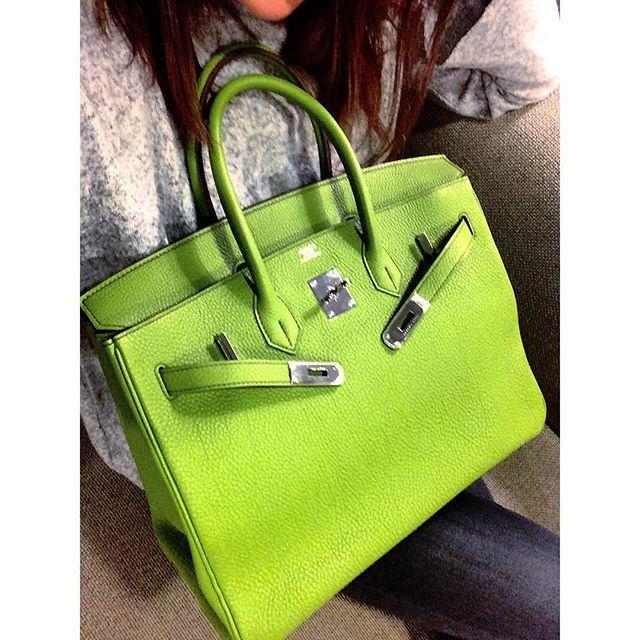 Hermès Birkin 35 Anis Vert.