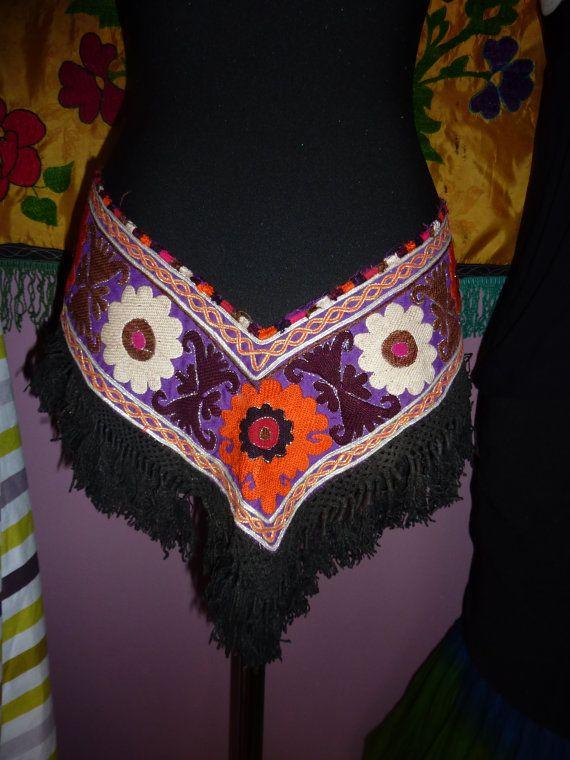 Tribalgürtel Handbestickte Saye Gosha aus von neemaheTribal auf Etsy
