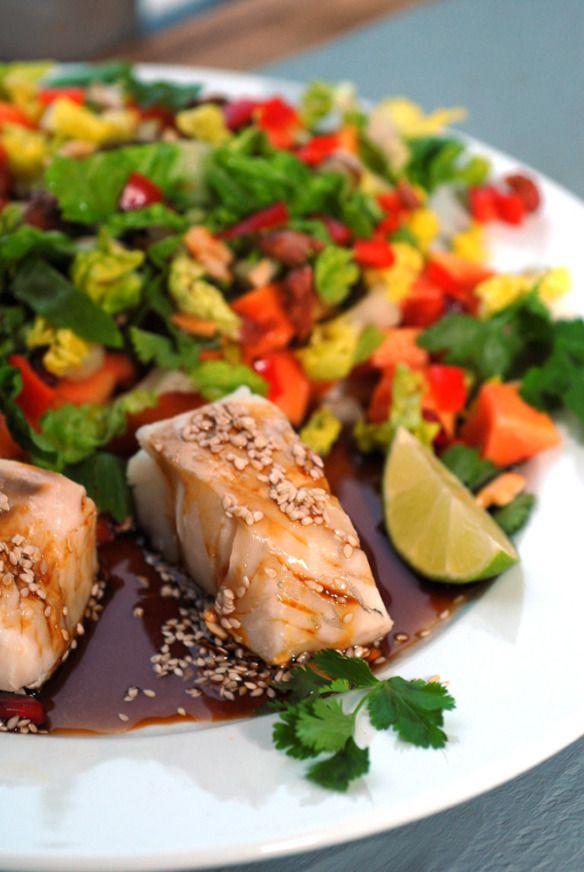 Nydelig og sunn mat på tallereken. Foto: Lise von Krogh.