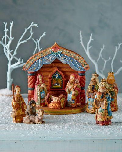 Nativity Scene By G Debrekht