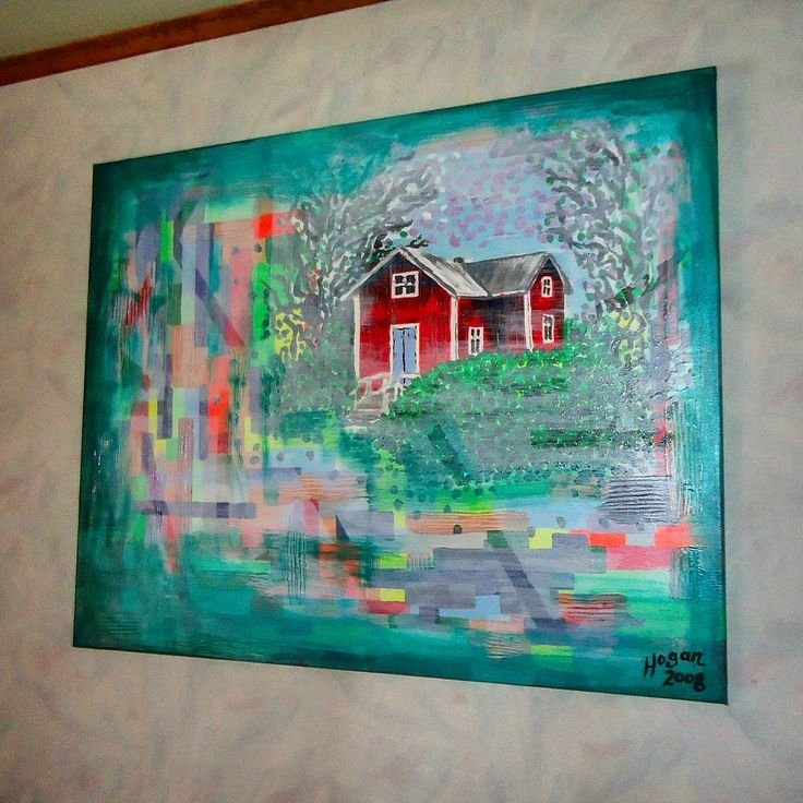 ...'Thoughts of summer' (acrylic on canvas). a finnish summer house in Prästkulla Finland which i painted in a dreamscape of summer colours. ..#finland100_igchallenge 62/100 ..posting a series of random images (including some of my own art) from or associated with Finland to celebrate the country's 100th birthday! _____________________________  #art #artist #thoughtsofsummer #contemporary #konst #taide #finland100 #nature #finland #artcollection #fineart #artlife #painter #artoftheday