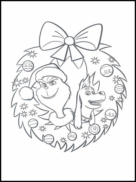 The Grinch Colouring 6 Grinch Coloring Pages Christmas Coloring Pages Coloring Books