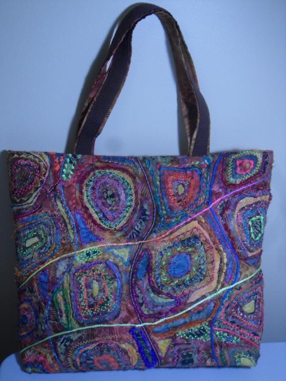 Stitch 'n Slash bag from Craftsy class.