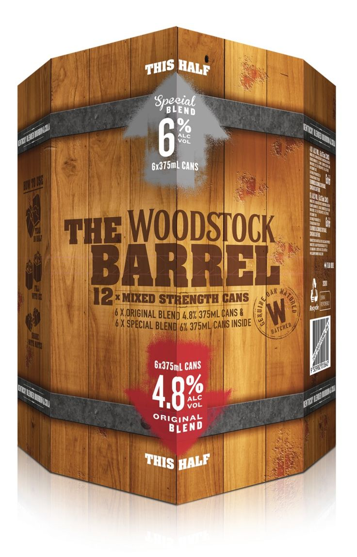 To encourage behaviour change through brand switching, trial and AWOP increase, a standout packaging solution was conceived.  A perception amongst RTD Bourbon drinkers is that Woodstock is of lesser quality to competitor brands and somewhat artificial in its production. As an educational piece a genuine American Oak barrel look and feel was implemented to combat this whilst encouraging trial of the higher 6% ABV SKU.  12 mixed strength cans were house in a water resistant substrate which ...