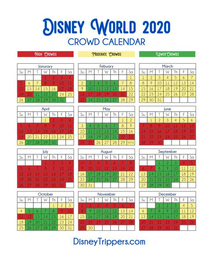 Disney World Crowd Calendar 2020 2021 Updated Tracker For Crowds In 2020 Disney World Crowd Calendar Disney Crowd Calendar Perfect Disney Vacation