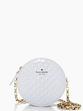 On Par bag by Kate Spade!!! I saw this in person! ...way too expensive, but SO UNIQUE!