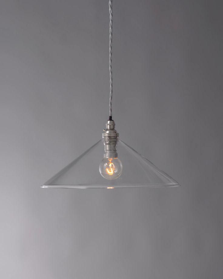 Clear glass hay coolie pendant light retro lightingantique lightingmodern