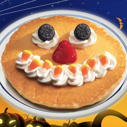 Bring your child to IHOP between now and #Halloween for a free scary face pancake!