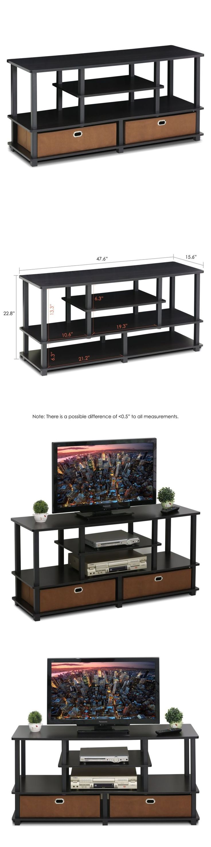 Entertainment Units TV Stands: Furinno Furinno Jaya Large Tv Stand For Up To 50-Inch Tv With Storage Bin, -> BUY IT NOW ONLY: $55.64 on eBay!