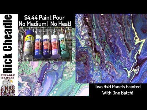 (125) Paint Pouring For $4.44 No Pouring Medium! No Heat Required! Plenty Of Cells. Vibrant Colors - YouTube