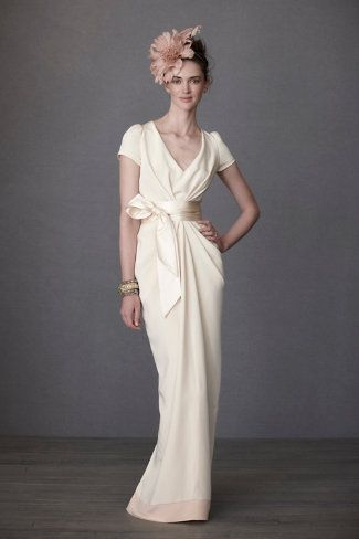 Crepe de Chine Column gown by BHLDN