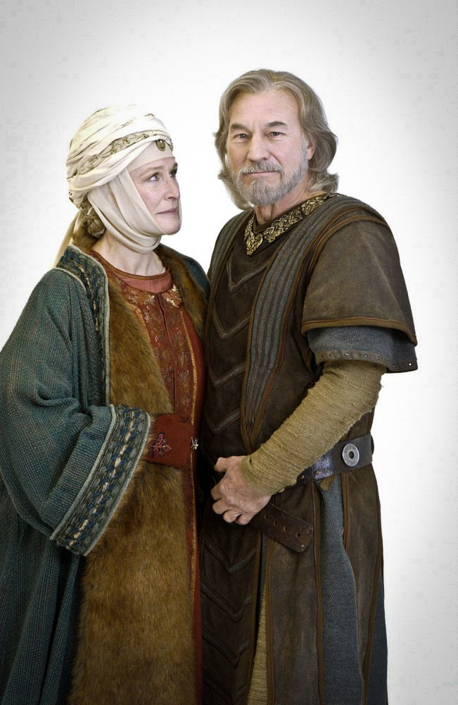 """Glenn Close & Patrick Stewart in """"The Lion in Winter"""" (2003).This is a film about my 22nd, 23rd, 24th, 27th & 28th great grandparents - King Henry II of England (of the legendary Plantagenet line) and Eleanor of Aquitaine... someone I've always admired. She was one of the wealthiest, most influential and powerful women of western Europe during the High Middle Ages."""