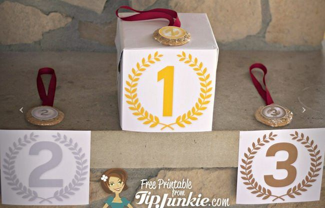 Olympic Winner Podium Signs {free printable}