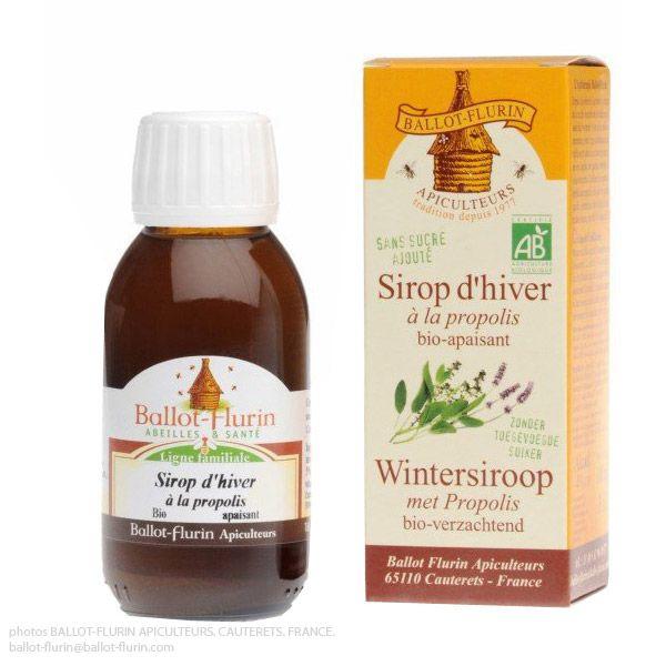 Sirop d'hivers à la Propolis Bio-apaisant : Adoucit la gorge, Stimule la résistance naturelle de l'organisme.