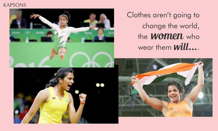 Breaking stereotypes in style... #PVSIndhu #SakshiMalik #DeepaKarmakar #Kapsons #Rio2016 #MakinggIndiaProud