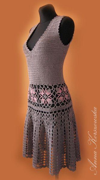 www.polandhandmade.pl, #polandhandmade , #dress, #crochet