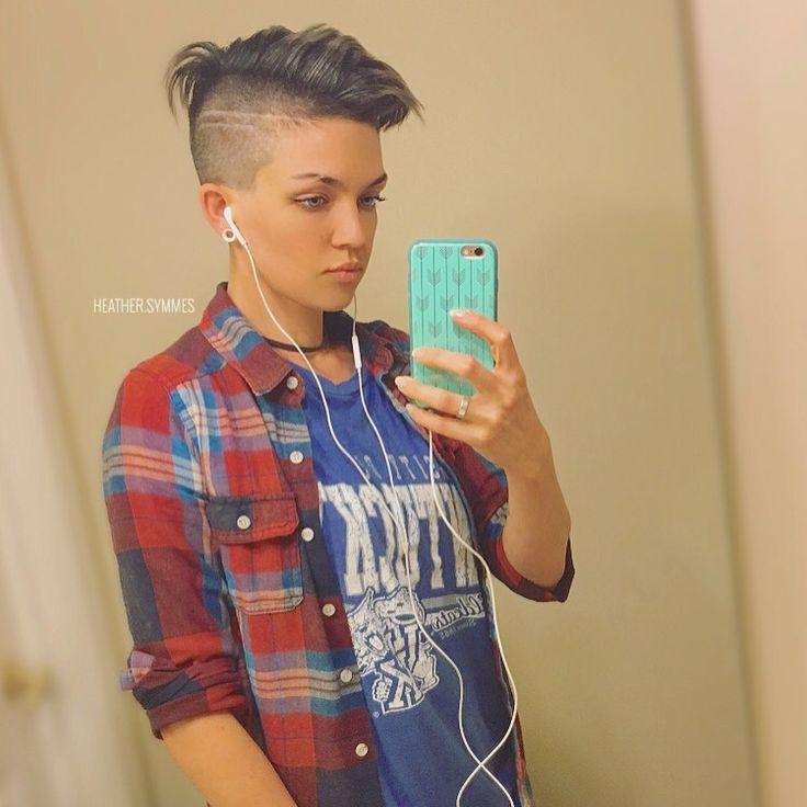 Heather Symmes. womens short hair styles. under cut. short hair. tomboy.