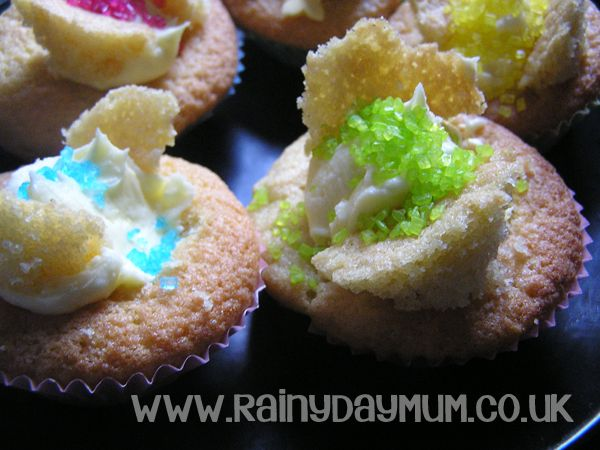 Creative baking with kids - butterfly cakes and cookies