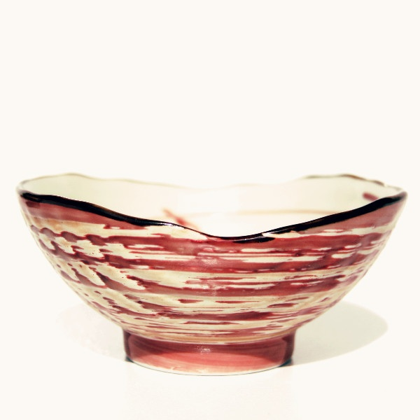 Shell bowl in red
