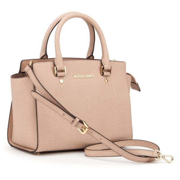 MICHAEL Michael Kors Bags (£185) ❤ liked on Polyvore featuring bags, handbags, blush, pink bag, zip bags, michael michael kors handbags, zipper bag and pink purse