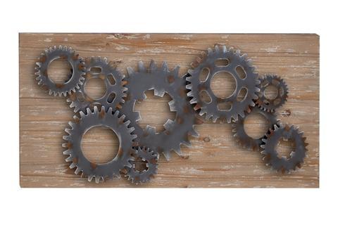 "Elegant Wall Sculpture - Wood Metal Wall Decor 47""""W 24""""H - product summary - Bing Shopping"