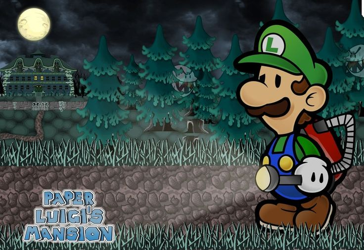 Paper Luigi's Mansion by GEO-GIMP.deviantart.com on @deviantART--I would play the crap out of this.