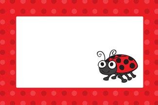 Ladybug Party Invitation © Purple Jungle Designs 2013