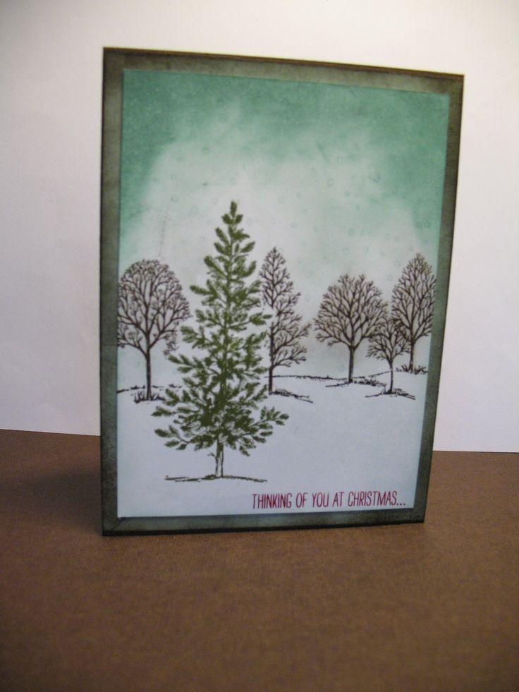 Kerst kaart gemaakt met de lovely as a Tree set.