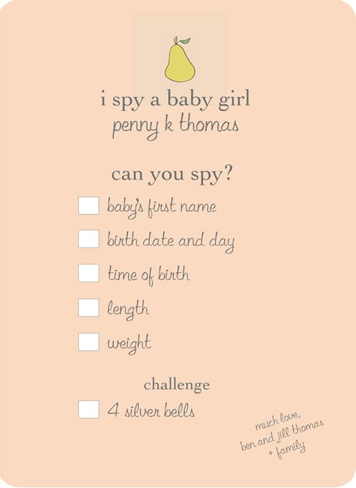 baby girl announcement ideas
